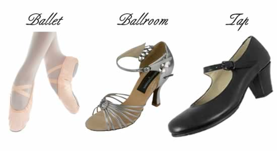 Dance Shoes - Ballroom - Ballet -  Tap Shoes